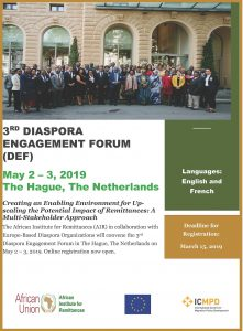 3rd Diaspora Engagement Forum (DEF) @ The Hague, Netherlands